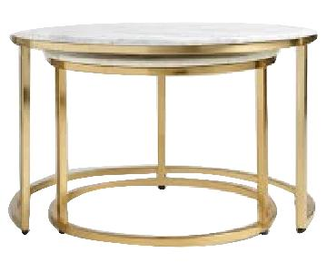 World Market Ayva Marble Nesting Tables