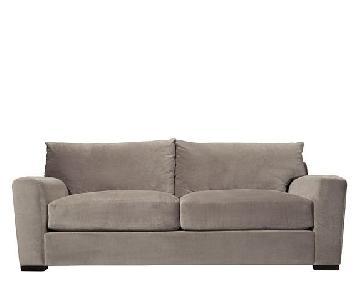 Raymour U0026 Flanigan Grey Microsuede Sleeper Sofa ...
