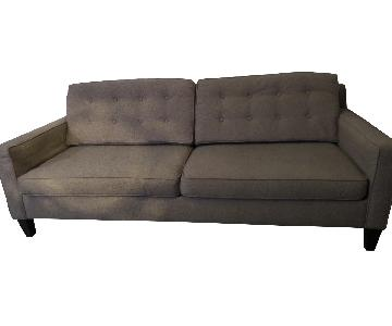 Macys Dove Gray Polyester Blend Sofa