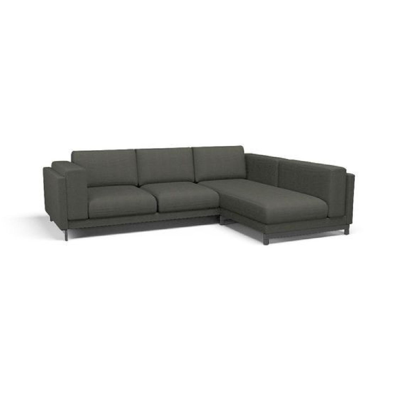 Ikea Nockeby Gray L Shaped 4 Seat Sectional Sofa ...