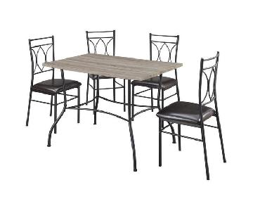 DHP Shelby Rustic Wood & Metal 5-Piece Dining Set