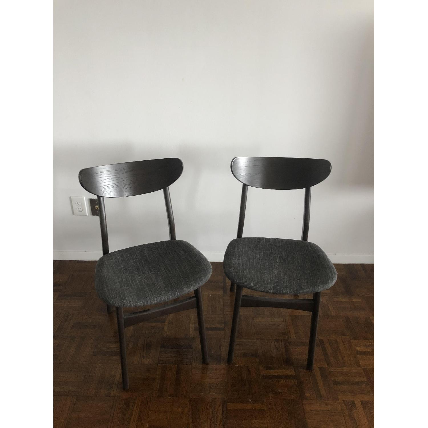 West Elm Classic Cafe Dining Chairs In Charcoal AptDeco - West elm cafe table