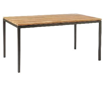 West Elm Box Frame Dining Table in Raw Mango