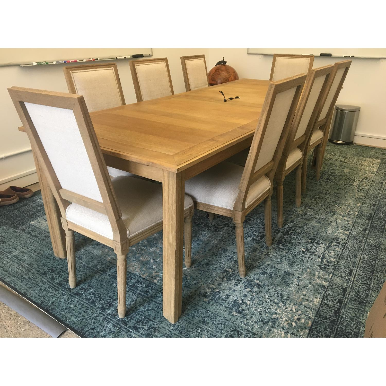 Restoration Hardware Parsons Extension Table W/ 10 Chairs ...