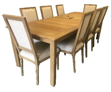 Restoration Hardware Parsons Extension Table w/ 10 Chairs