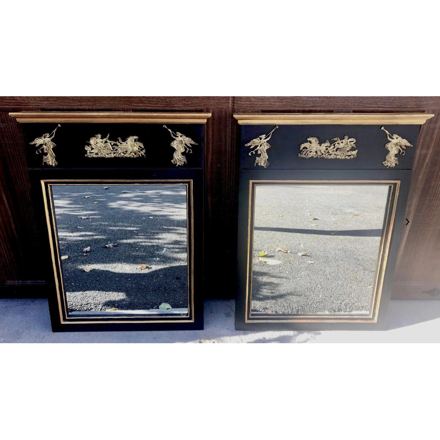 Antique Palladio Neoclassical Trumeau Mirrors