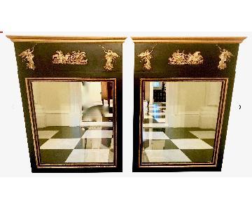 Antique Palladio Neoclassical Trumeau Mirrors