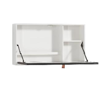 Pottery Barn White Wall Mounted Fold-Out Desk