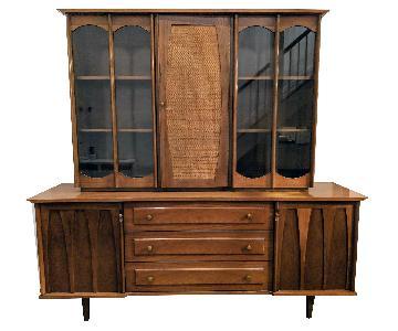 Vintage Solid Wood Mid Century Armoire