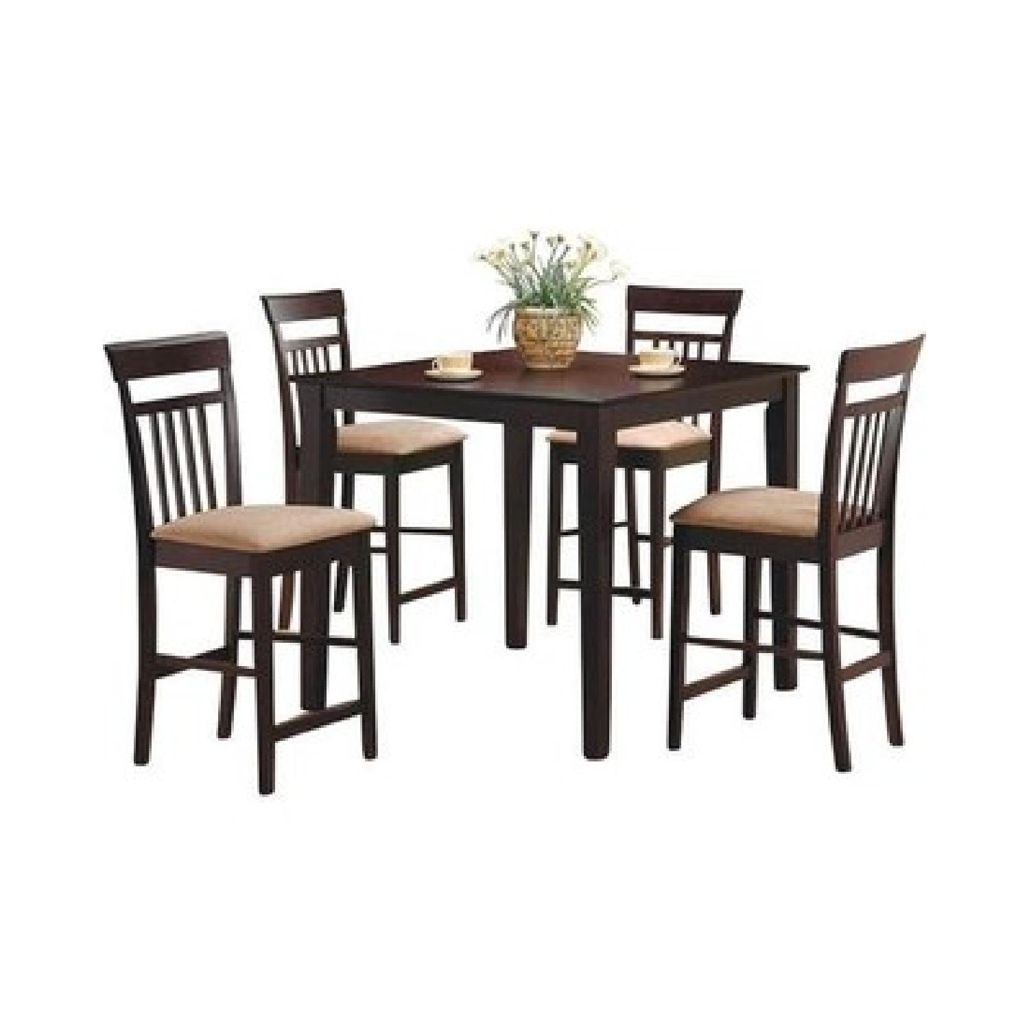 Coaster 5 Piece Counter Height Dining Set In Cappuccino ...