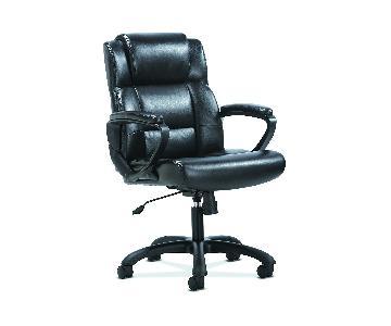 HON Office Sadie Black Leather Office Chair