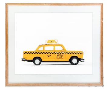 Leslee Mitchell Art - Car Series Taxi Print Unframed
