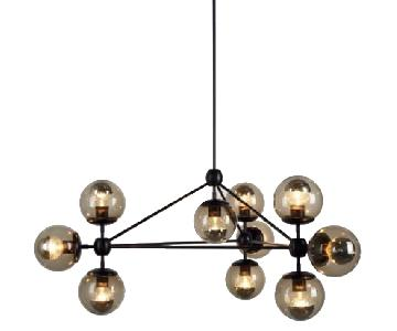 Roll & Hill Modo 3 Sided 10 Globes Chandelier