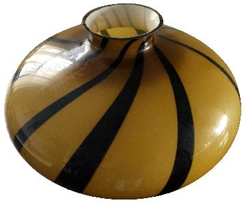 Nautilus Design Art Glass Centerpiece Bowl/Vase