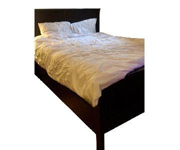 Restoration Hardware Dark Wood Queen Bed