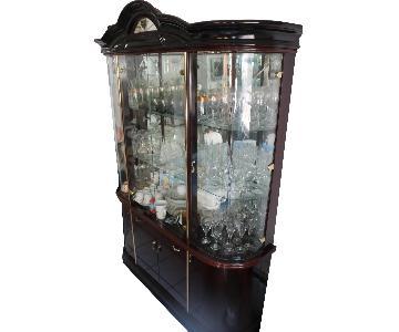 2-Piece Display Cabinet