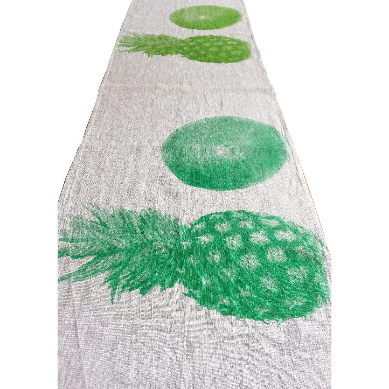 Bonnie & Neil Pineapple Coconut Linen Table Runner