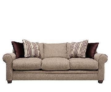 Raymour & Flanigan Fallon Chenille Sofa + Accent Chair