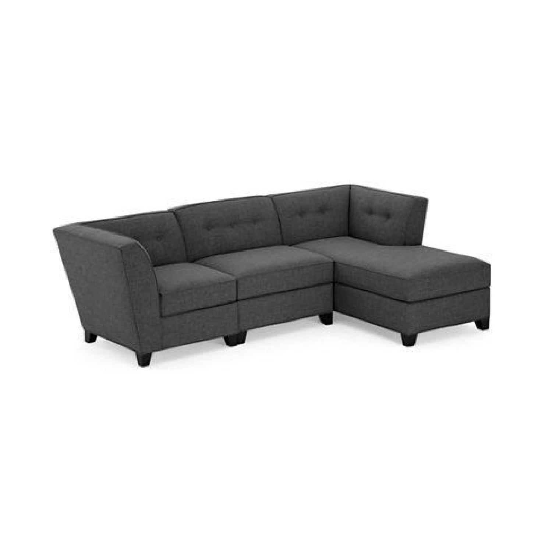 Macyu0027s Dark Grey Right Arm Chaise Sectional Sofa U0026 Ottoman ...