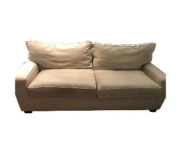 Beige Sofa w/ Pull-Out Bed