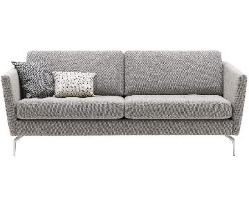 BoConcept Osaka Sofa in Light Grey Prato Fabric