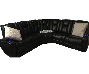 Bob's Leather 5 Piece Sectional Sofa w/ USB Console