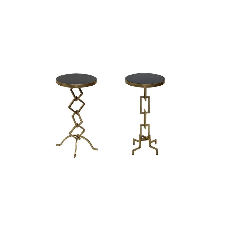 Designe Gallerie Granite Top End Tables