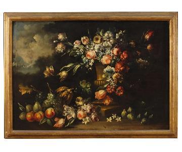 20th Century Oil on Canvas Italian Still Life Painting