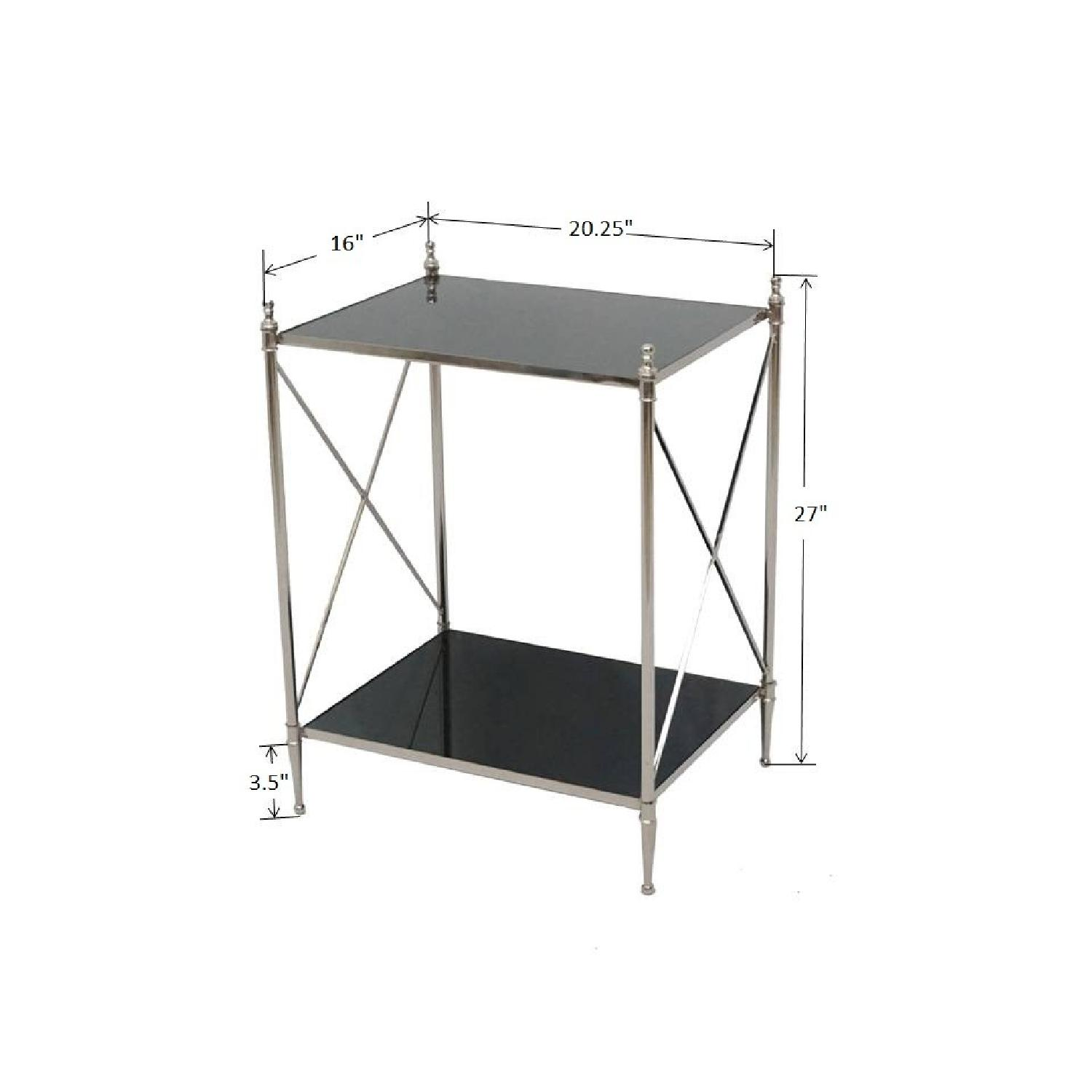 Designe Gallerie Wade Square Black Mirror Side Tables