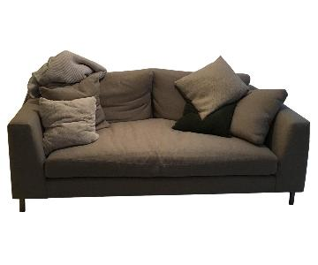Room & Board Beige Fabric Deep Sofa