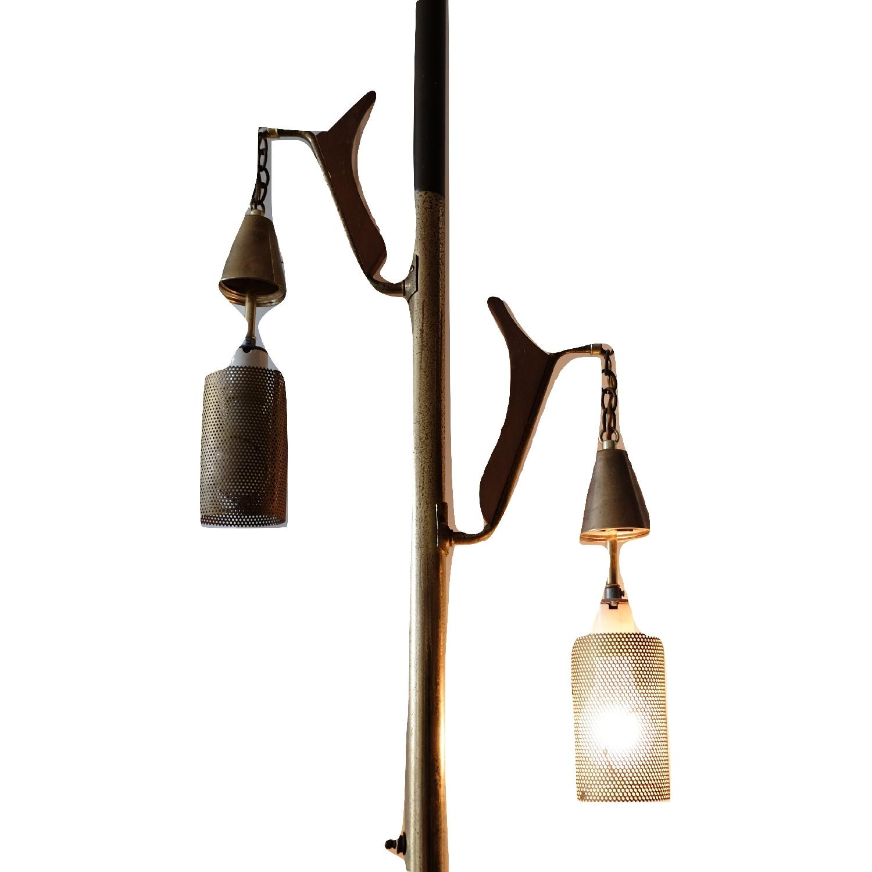 Mid Century Tension Pole Floor Lamp