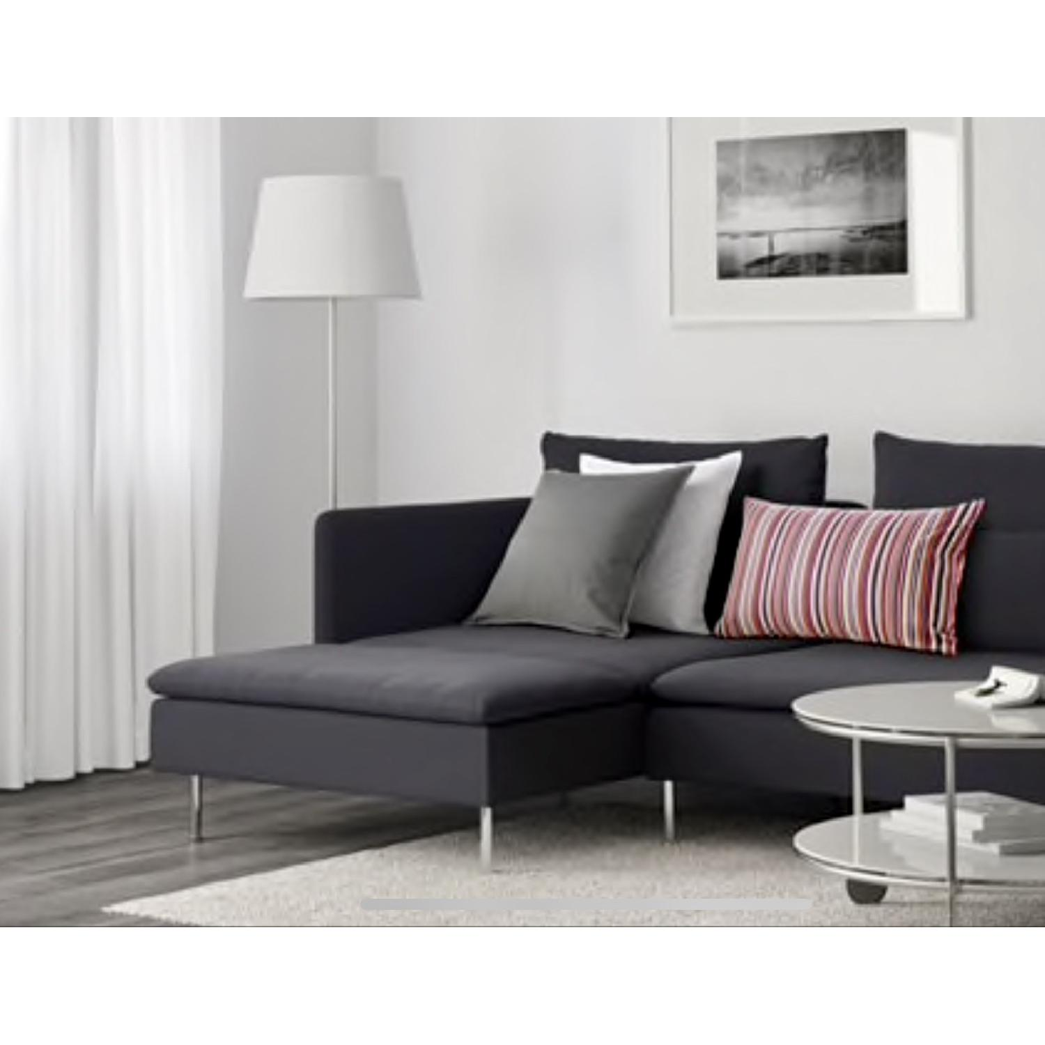 ... Ikea Soderhamn Grey Sectional Sofa W/ Extended Left Chaise 4