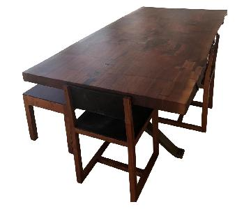 BDDW Handcrafted 4-Piece Dining Set