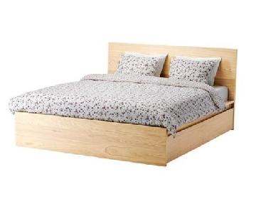 Ikea Malm Queen Size Bed w/ Storage