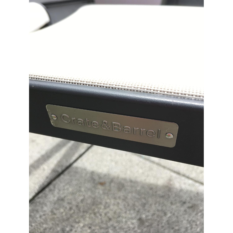 Crate & Barrel Outdoor/Patio Chair & Footstool