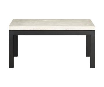 Crate & Barrel Travertine Coffee Table