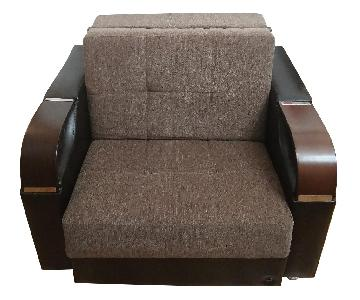 Italian Convertible Lounge Chair/Bed