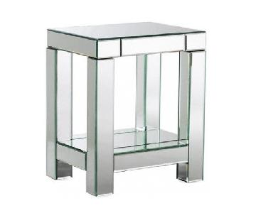 West Elm Mirrored Parsons End Table/Nightstand