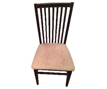 Arhaus Dining Chairs in Wood/Black Finish