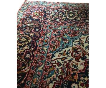 Hand Knotted Plum Persian Rug