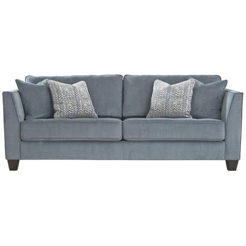 Ashley Cobalt Blue Sciolo Sofa + Chaise