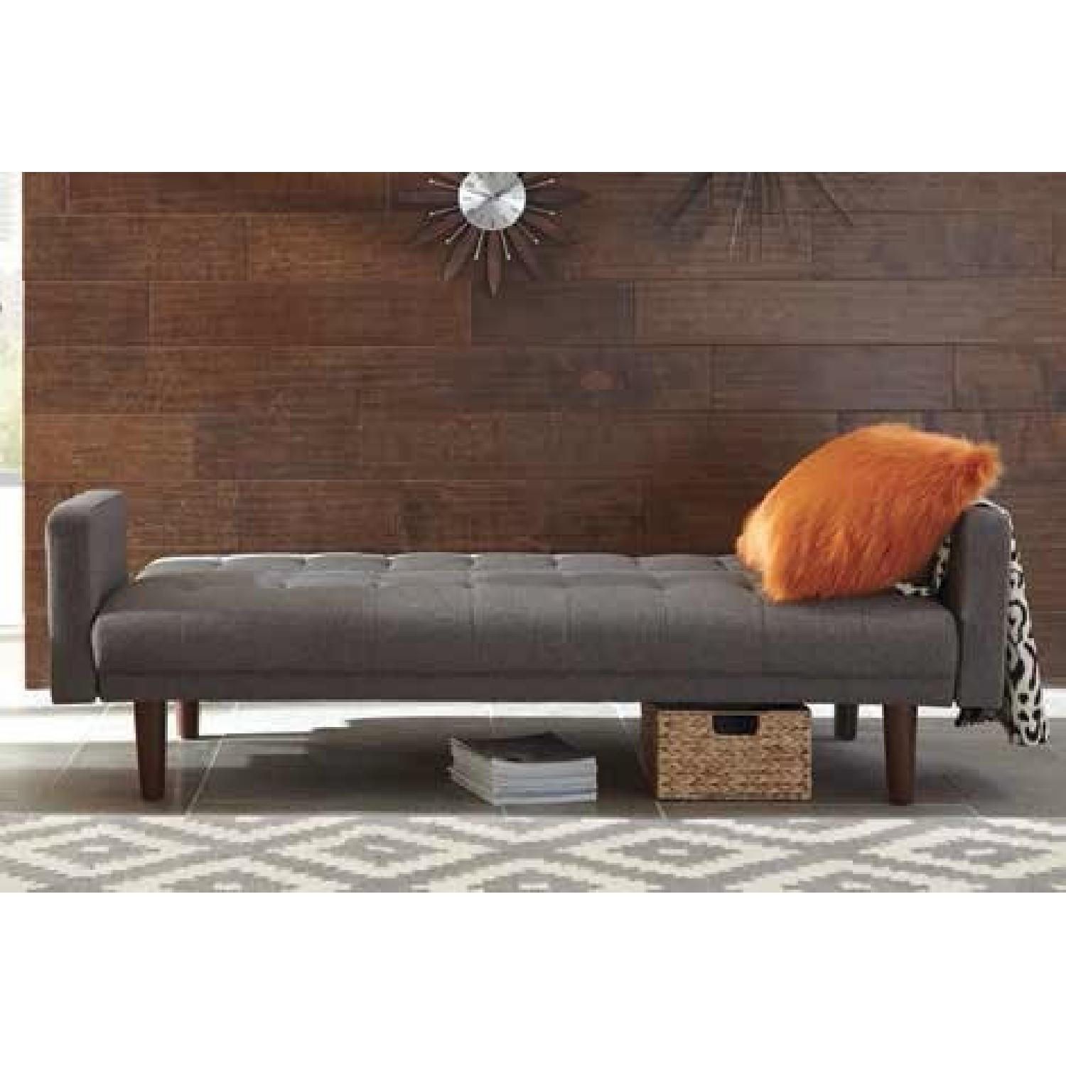 Modern Compact Sofabed in Grey Fabric