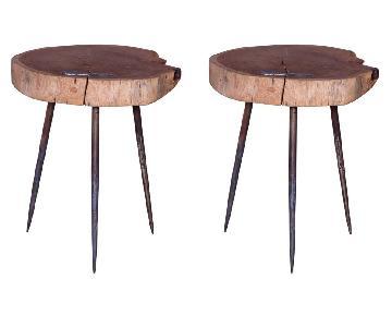 Designe Gallerie Viviers Acacia Wood Stools