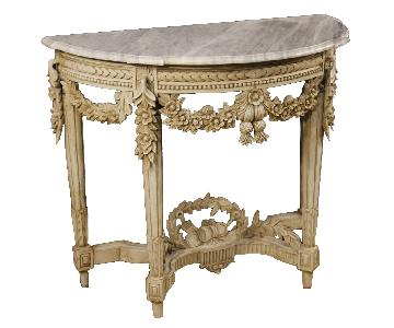 20th Century French Louis XVI Style Painted Wood Console