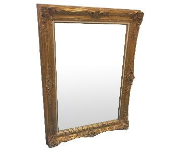 Beveled Edge Mirror Colonial Wood Picture Frame