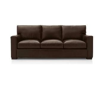Crate & Barrel Axis II Leather 3 Seat Sofa