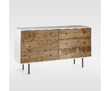 West Elm Reclaimed Wood + Lacquer Storage 6-Drawer Dresser