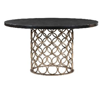 TOV Furniture Valentina Brass Round Dining Table