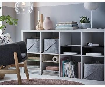 Ikea Kallax White Shelving Unit