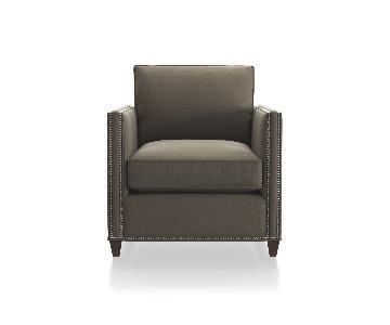Crate & Barrel Dryden Armchair w/ Nailheads